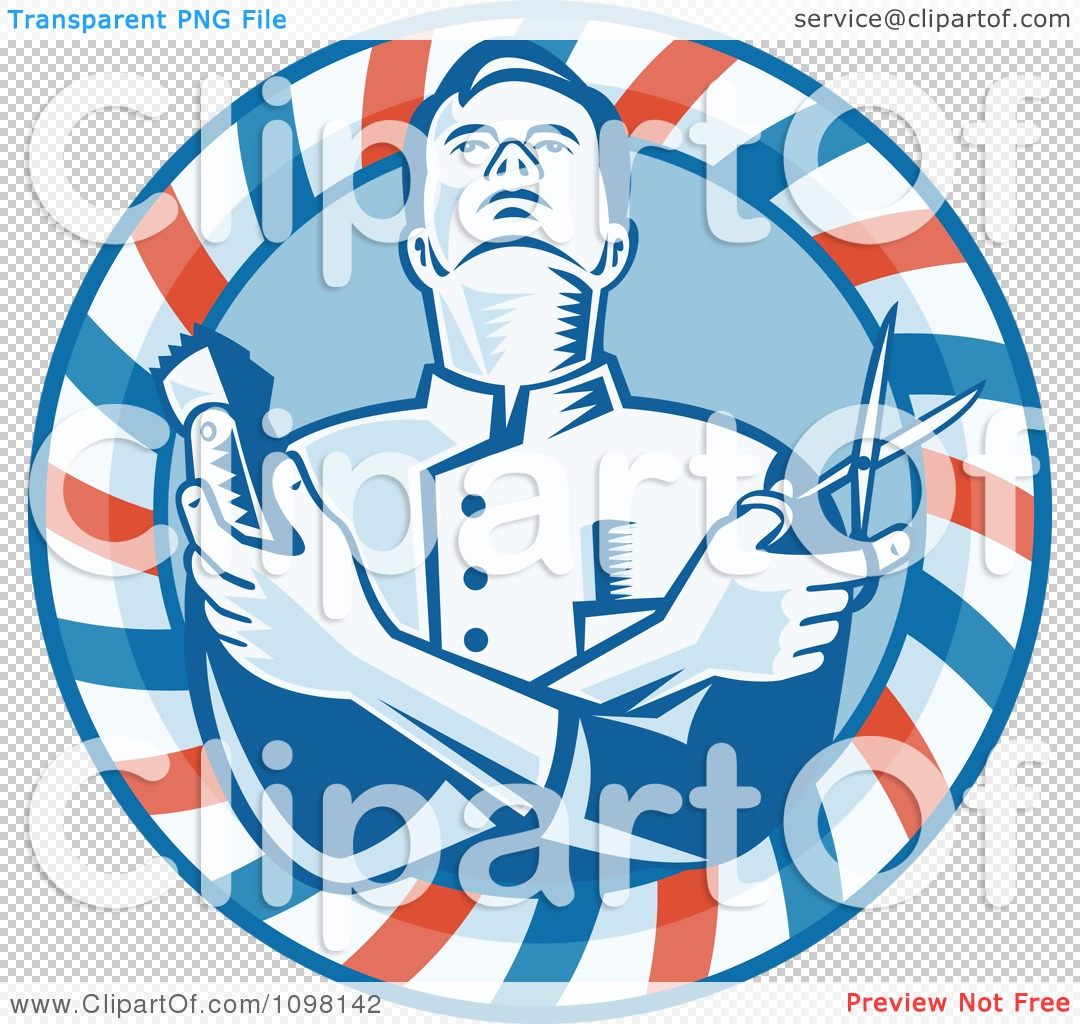 Barber Clipart PNG file has a