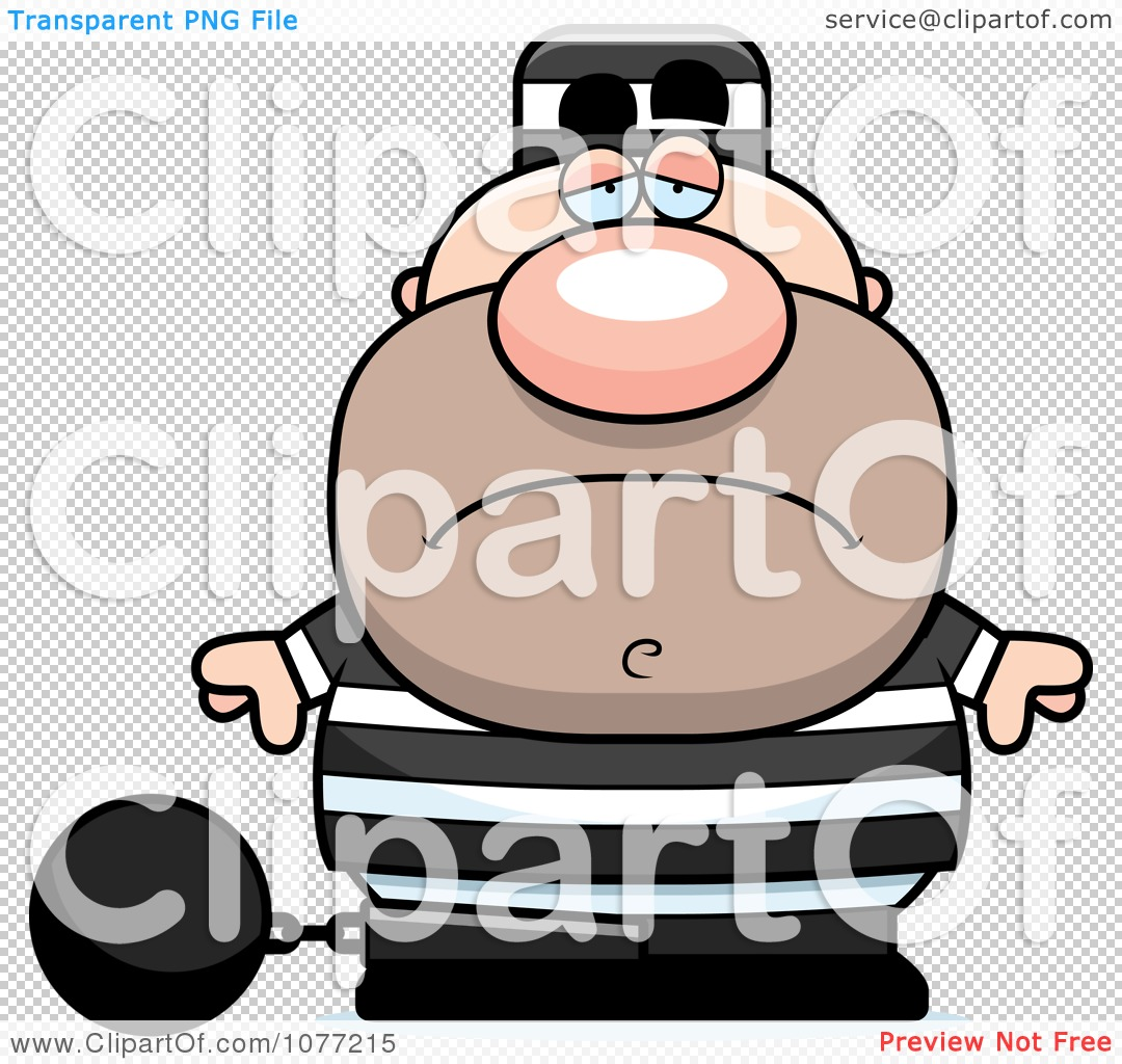 Clipart Sad Prisoner With A Ball And Chain - Royalty Free ...