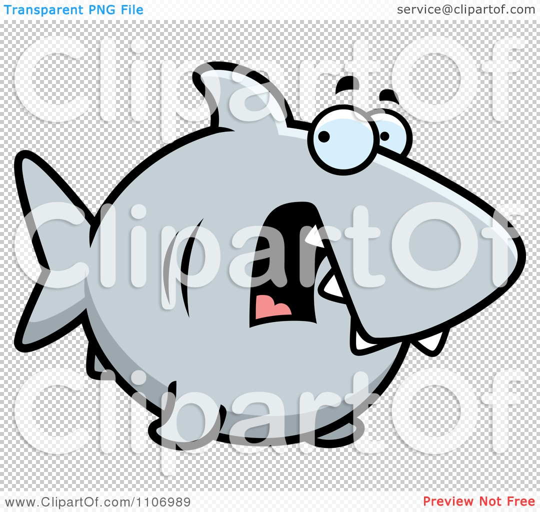 Clipart Scared Shark - Royalty Free Vector Illustration by ...