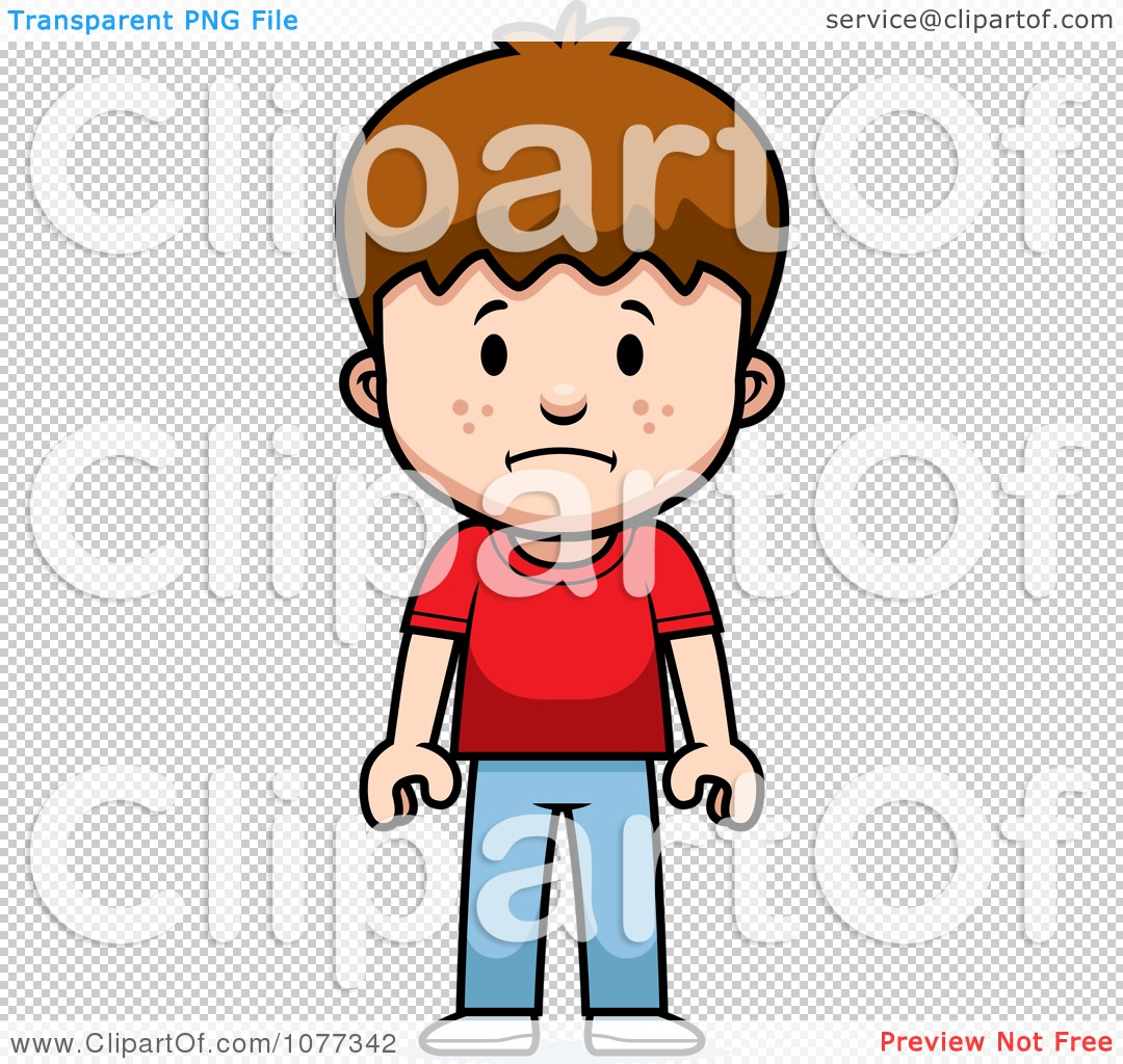 clipart school boy with a sad expression royalty free