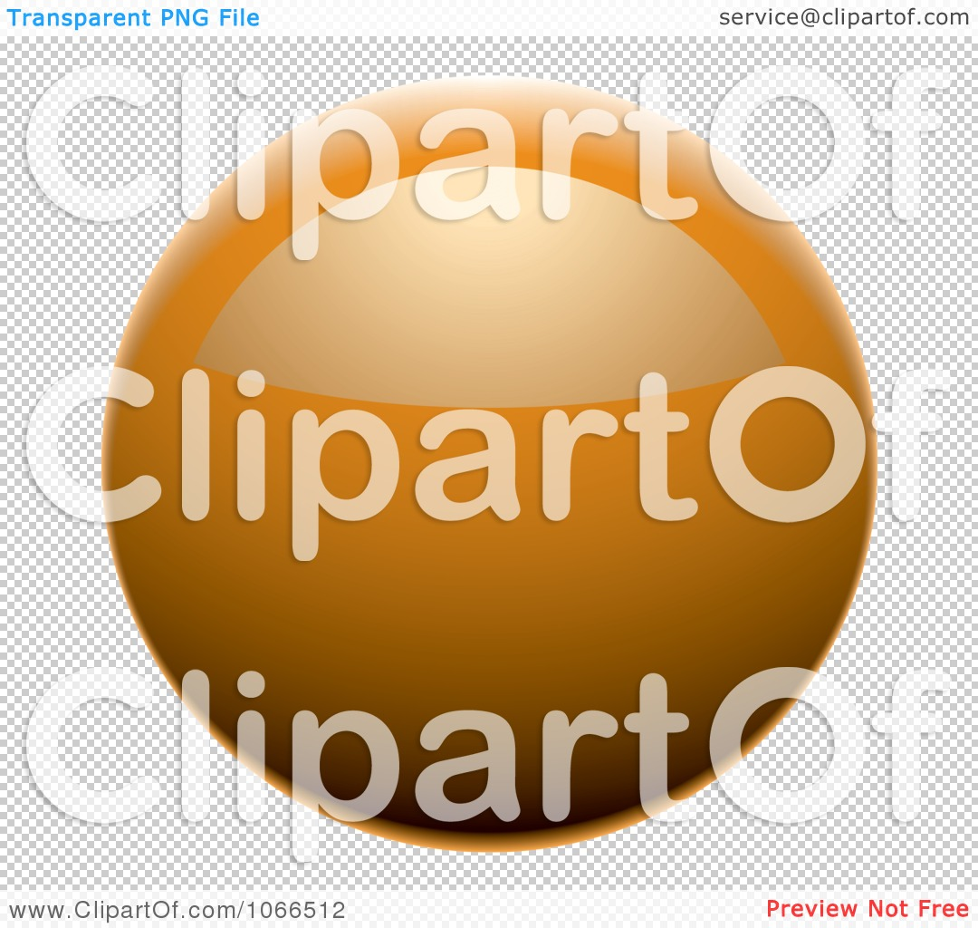 Clipart Shiny Orange Sphere Website Button - Royalty Free Vector ...