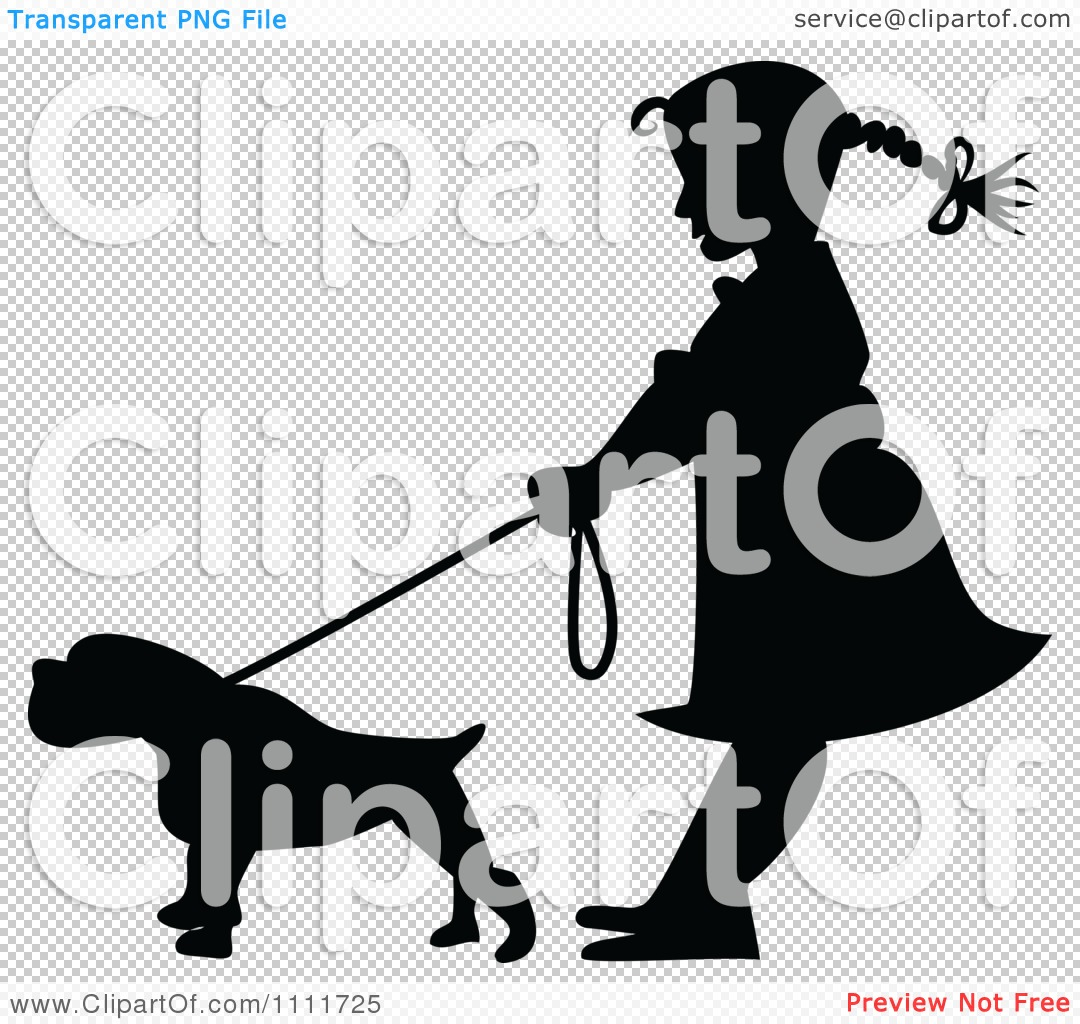 Free Clipart Dog With Leash