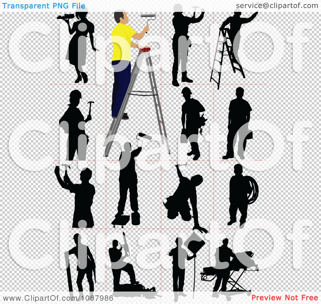 Construction Worker Silhouette Clipart Construction Worker Silhouette