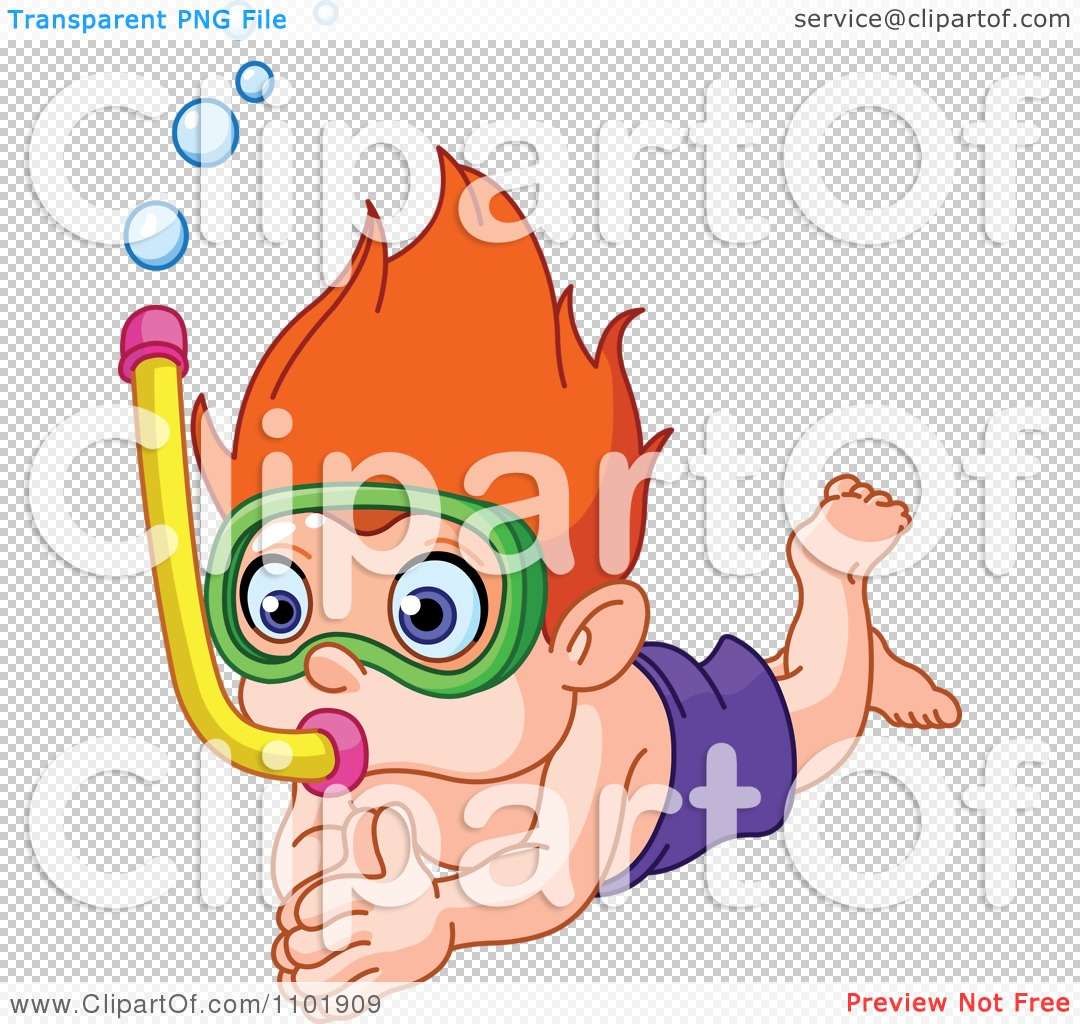 Clipart Snorkel Boy Diving - Royalty Free Vector Illustration by ...