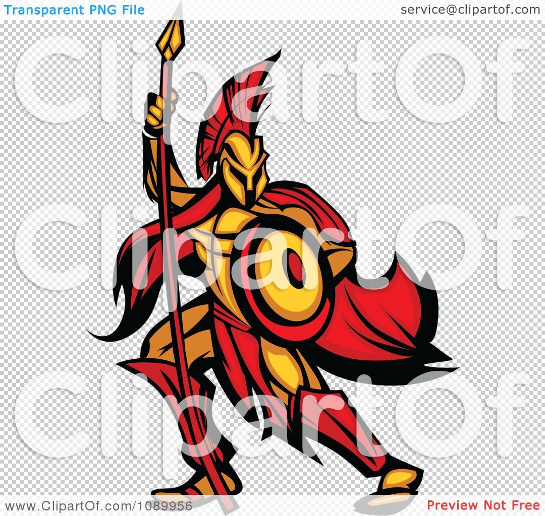 clipart spartan warrior armed with a spear and shield royalty rh clipartof com warrior clip art head warrior logo clipart