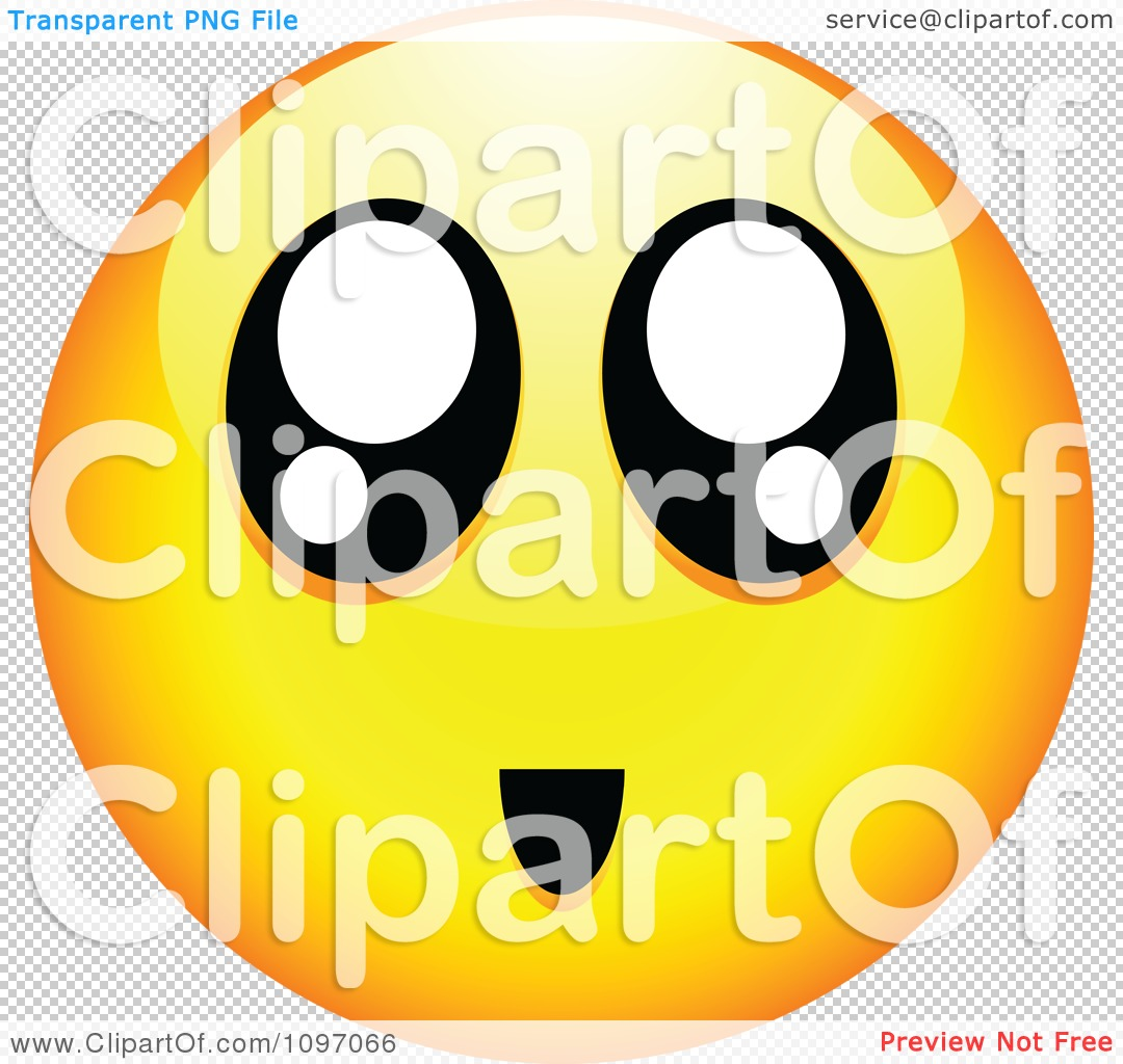 clipart surprised yellow cartoon smiley emoticon face 2 - royalty