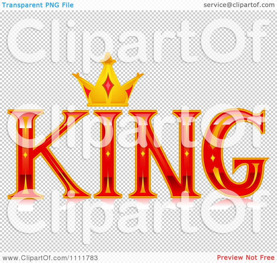 Clipart The Stylized Word King With A Crown Royalty Free