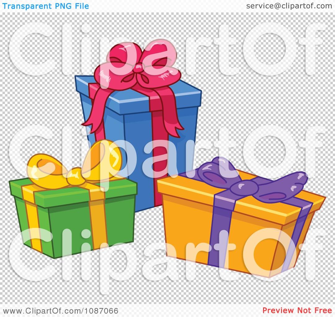 Christmas Presents Transparent Background