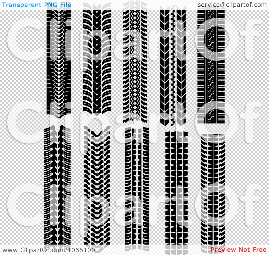 Clipart Tire Tread Marks 3 - Royalty Free Vector Illustration by Vector Tradition SM #1065100