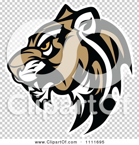 Clipart Tough Cougar Mascot Head In Profile - Royalty Free Vector ...