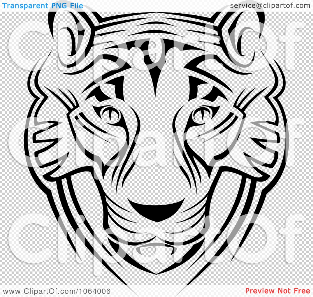 Clipart Tribal Tiger Face - Royalty Free Vector ...