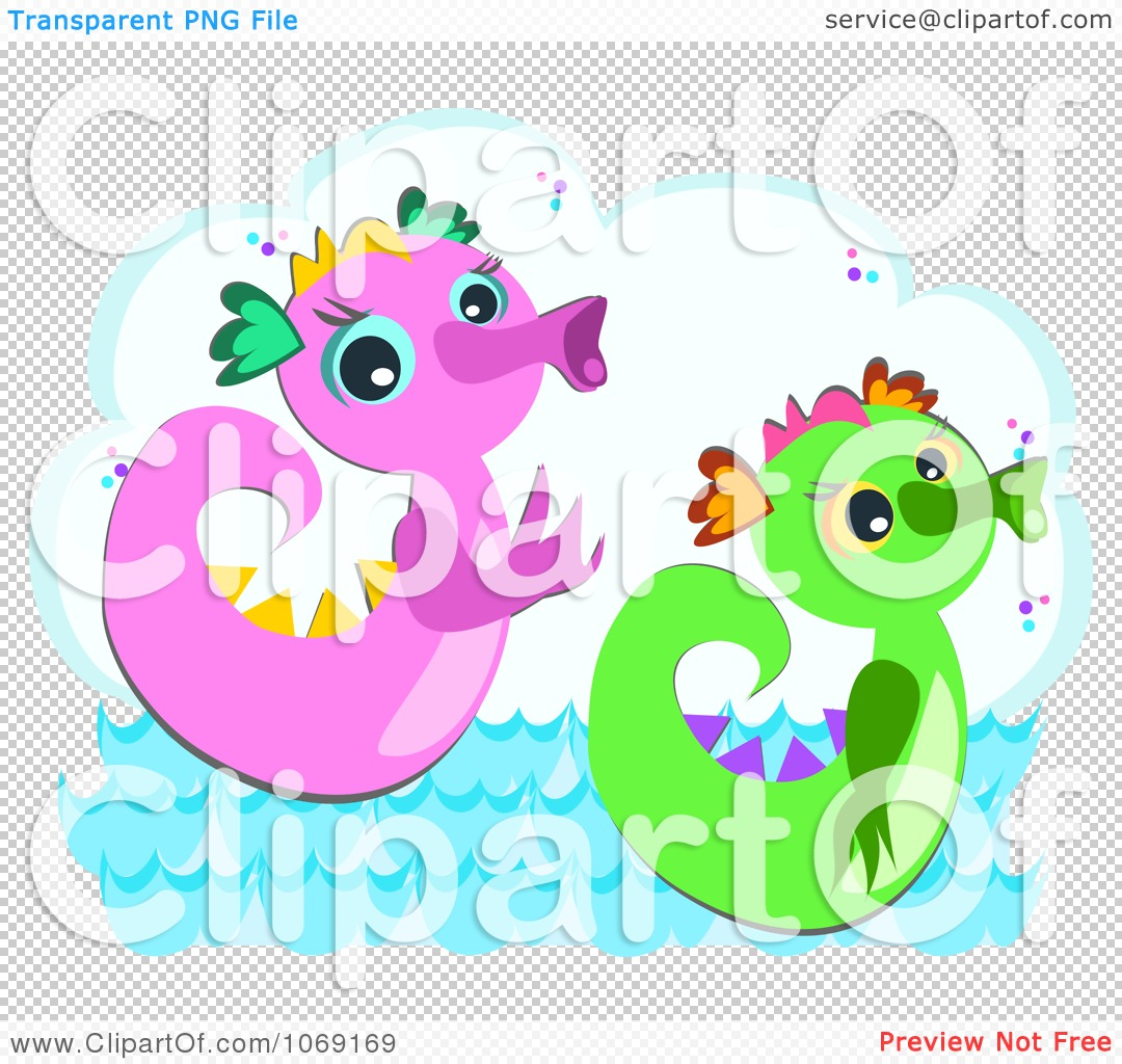Clipart Two Sea Serpents - Royalty Free Vector Illustration by ...