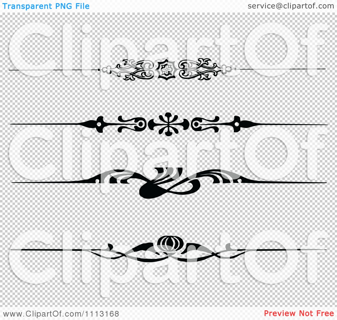 Clipart Vintage Black And White Decorative Art Deco Borders ...