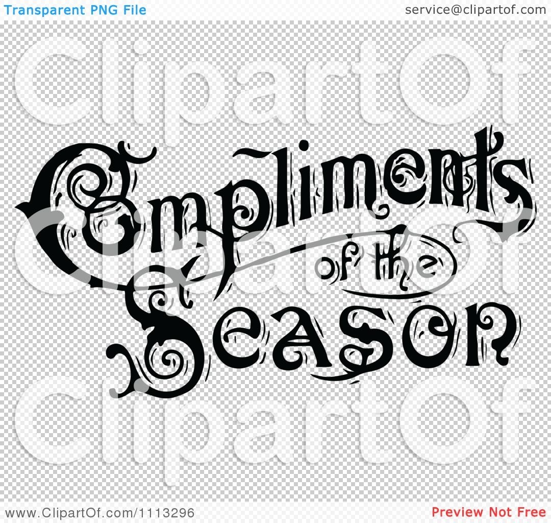 17 Best Images About Compliments Of Purple On Pinterest: Clipart Vintage Compliments Of The Season Text In Black