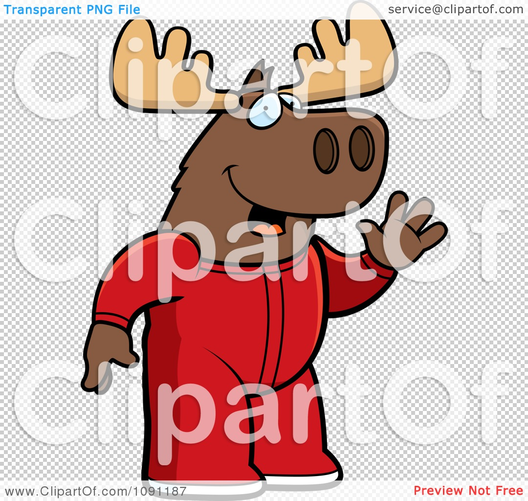 Baby Boy Moose Clipart PNG file has a