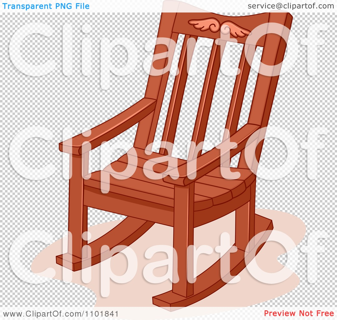 Red Rocking Chair Clipart ~ Clipart wooden rocking chair royalty free vector