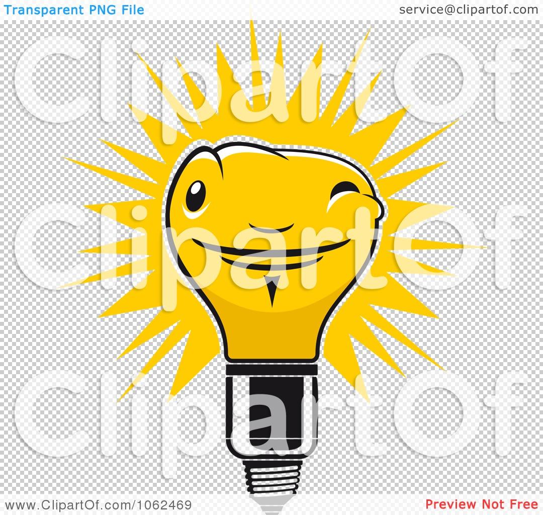 Clipart Yellow Light Bulb Logo 2 Royalty Free Vector