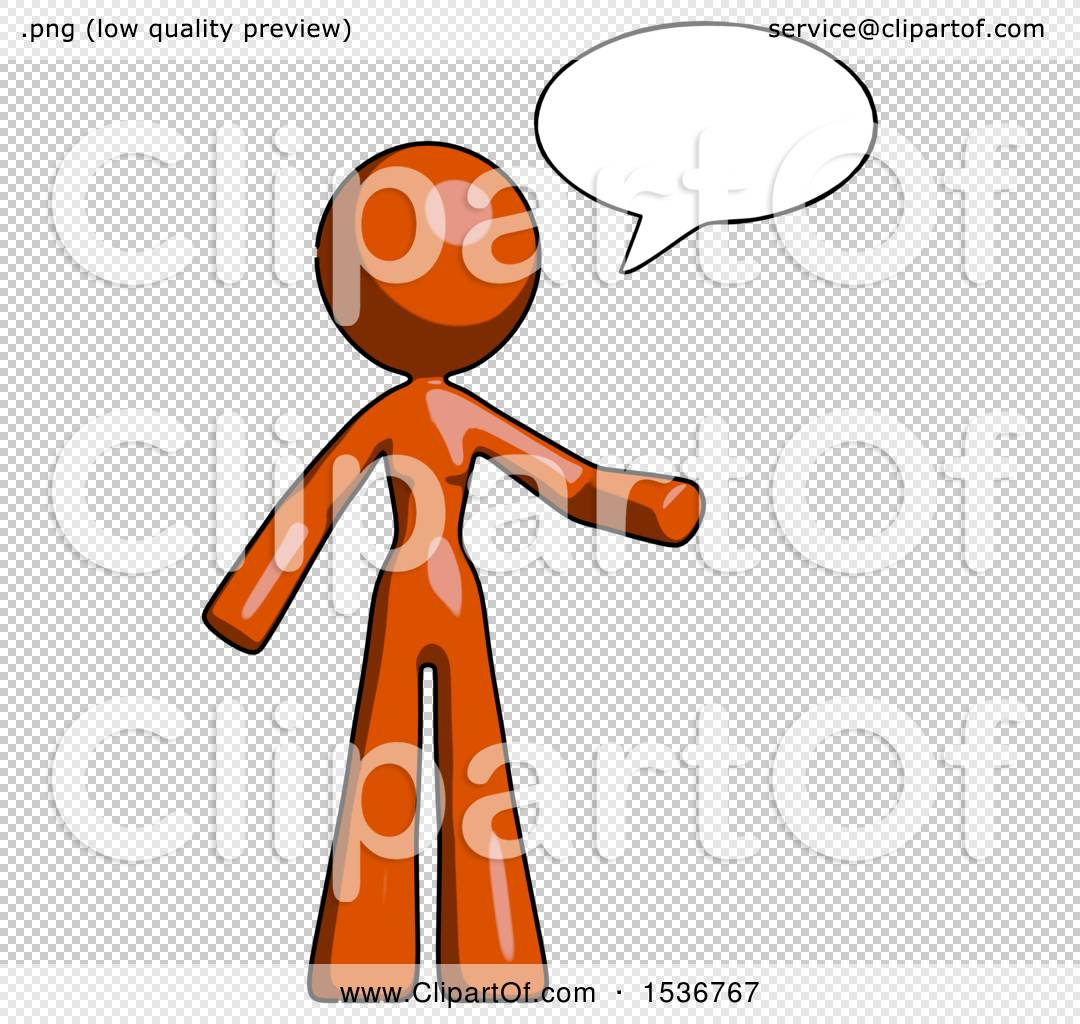 Orange Design Mascot Woman With Word Bubble Talking Chat Icon By Leo Blanchette 1536767
