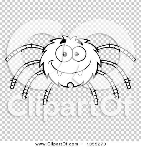 Outline clipart of a cartoon black and white happy spider - Spider outline clip art ...