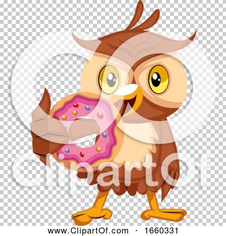 Owl Eating Donut by Morphart Creations #1660331