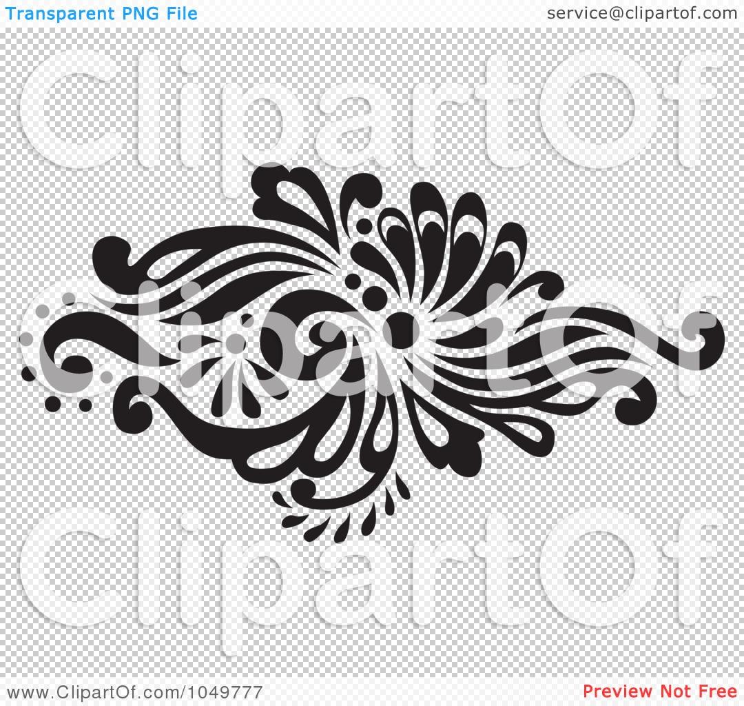 Royalty-Free (RF) Clip Art Illustration of a Black Vintage Elegant ...