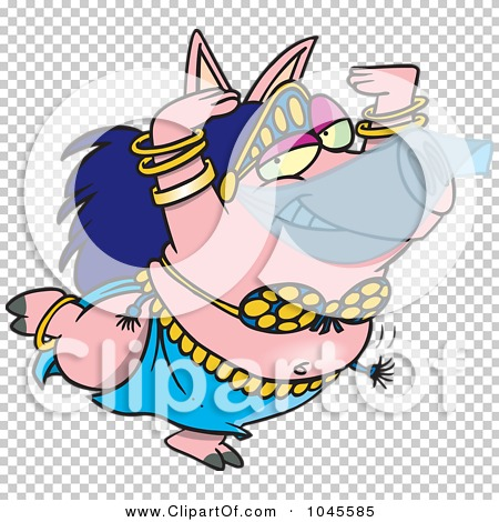 Royalty-Free (RF) Clip Art Illustration of a Cartoon Belly Dancing ...