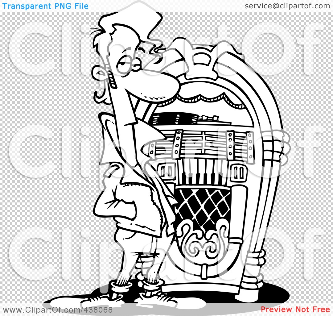 Royalty-Free (RF) Clip Art Illustration of a Cartoon Black And ...