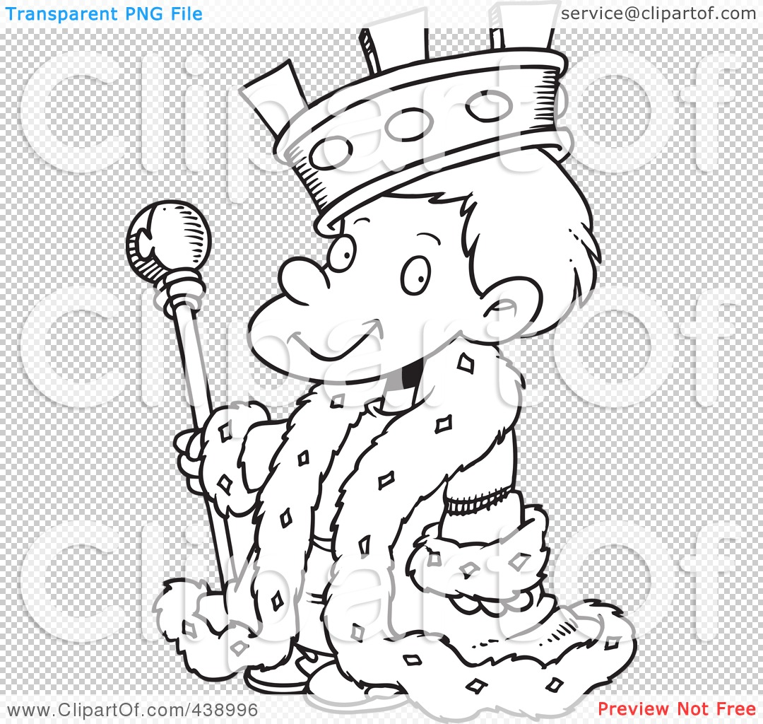 PNG file has a King Clip Art Black And White