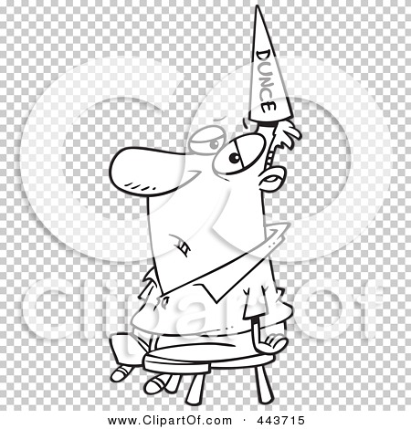 Royalty-Free (RF) Clip Art Illustration of a Cartoon Black And ...