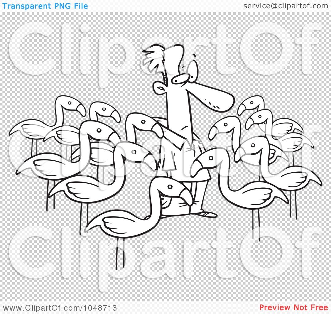 lawn flamingo outline - photo #28