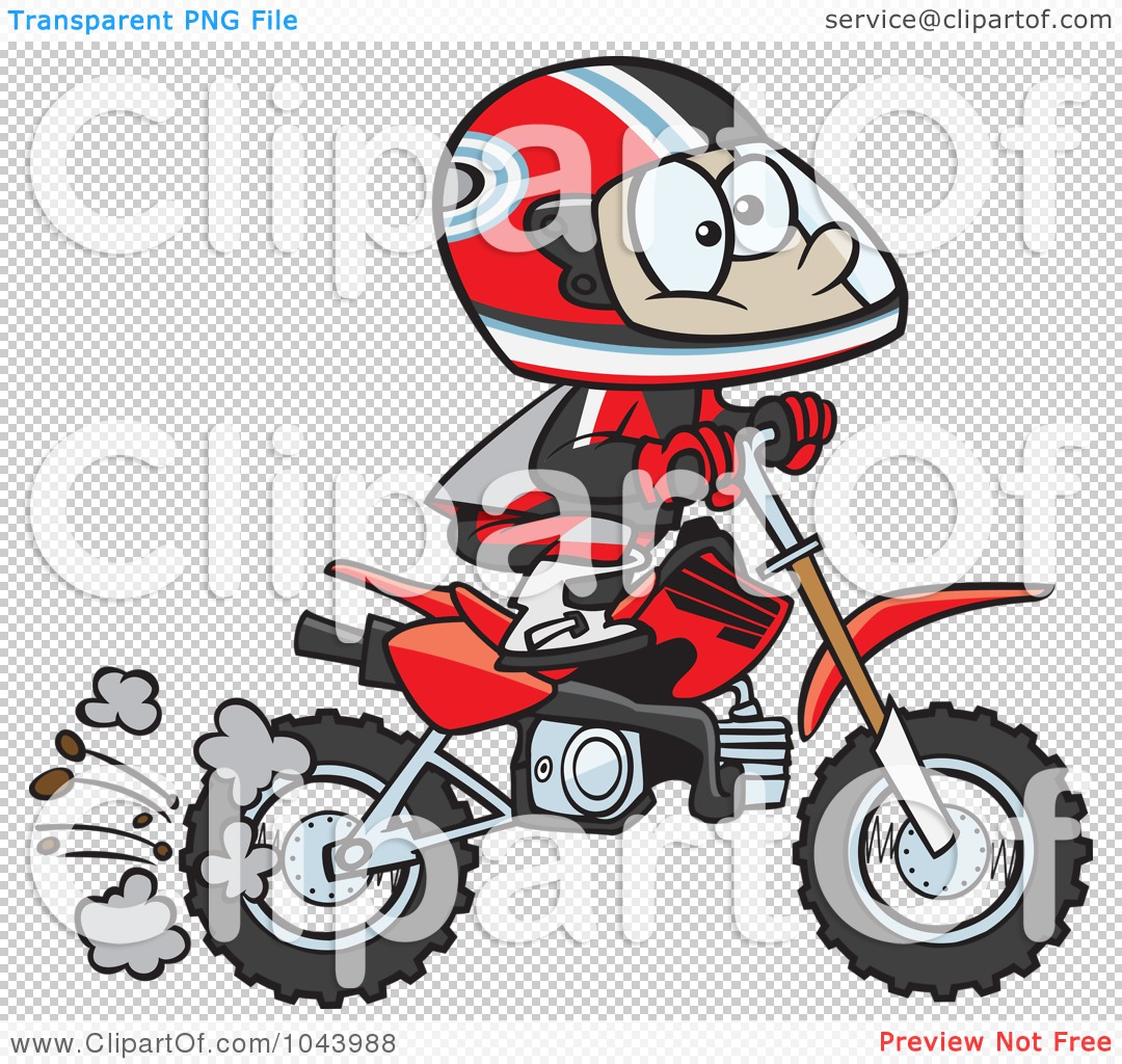 Dirt Bike Clipart Black And White Royalty-Free (RF) Clip...
