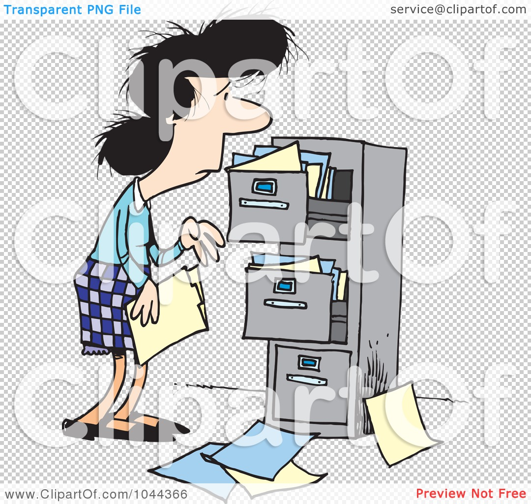 Royalty-Free (RF) Clip Art Illustration of a Cartoon Businesswoman ...