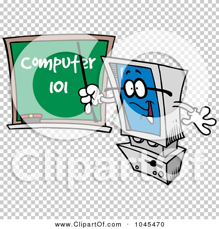 Royalty-Free (RF) Clip Art Illustration of a Cartoon Desktop ...