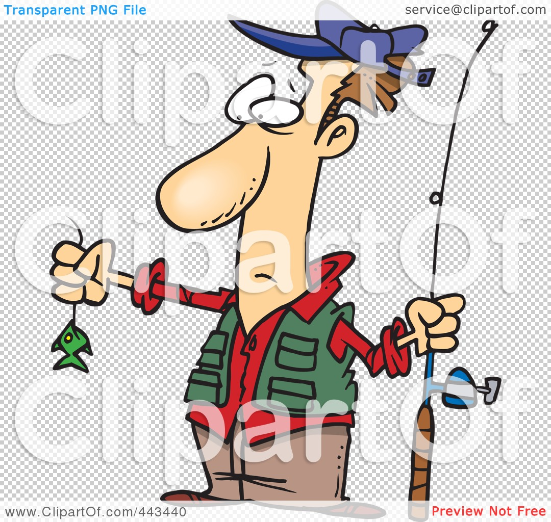 royalty free rf clip art illustration of a cartoon disappointed rh clipartof com Funny Fishing Clip Art Clip Art Fishing Sign