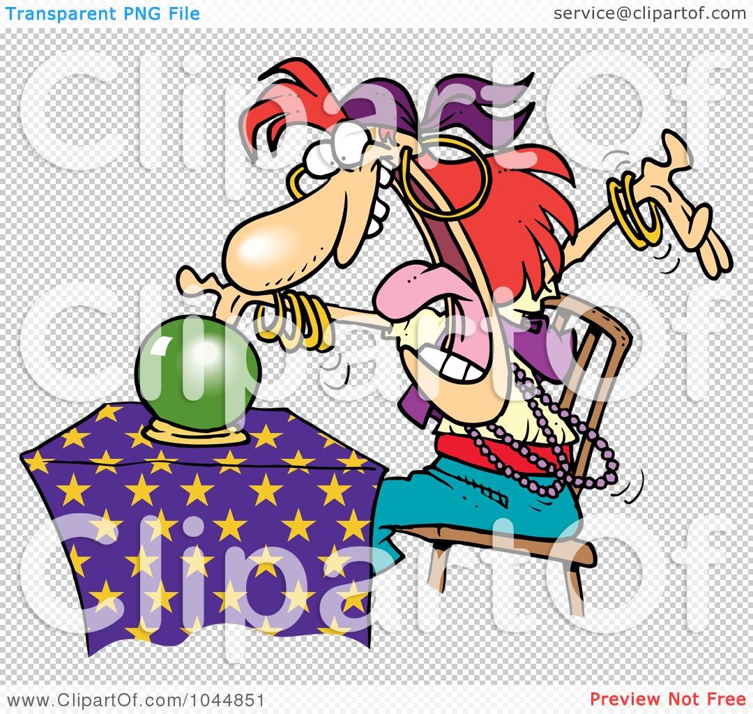 Fortune Teller Clipart A female fortune teller,