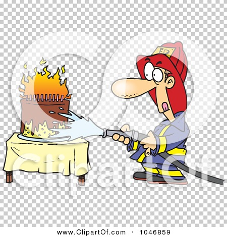 Royalty-Free (RF) Clip Art Illustration of a Cartoon Fireman ...