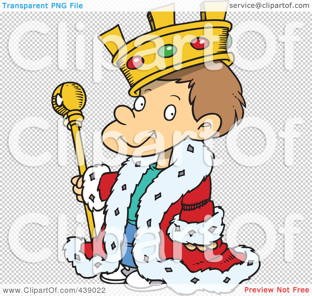 Royalty-Free (RF) Clip Art Illustration Of A Cartoon King