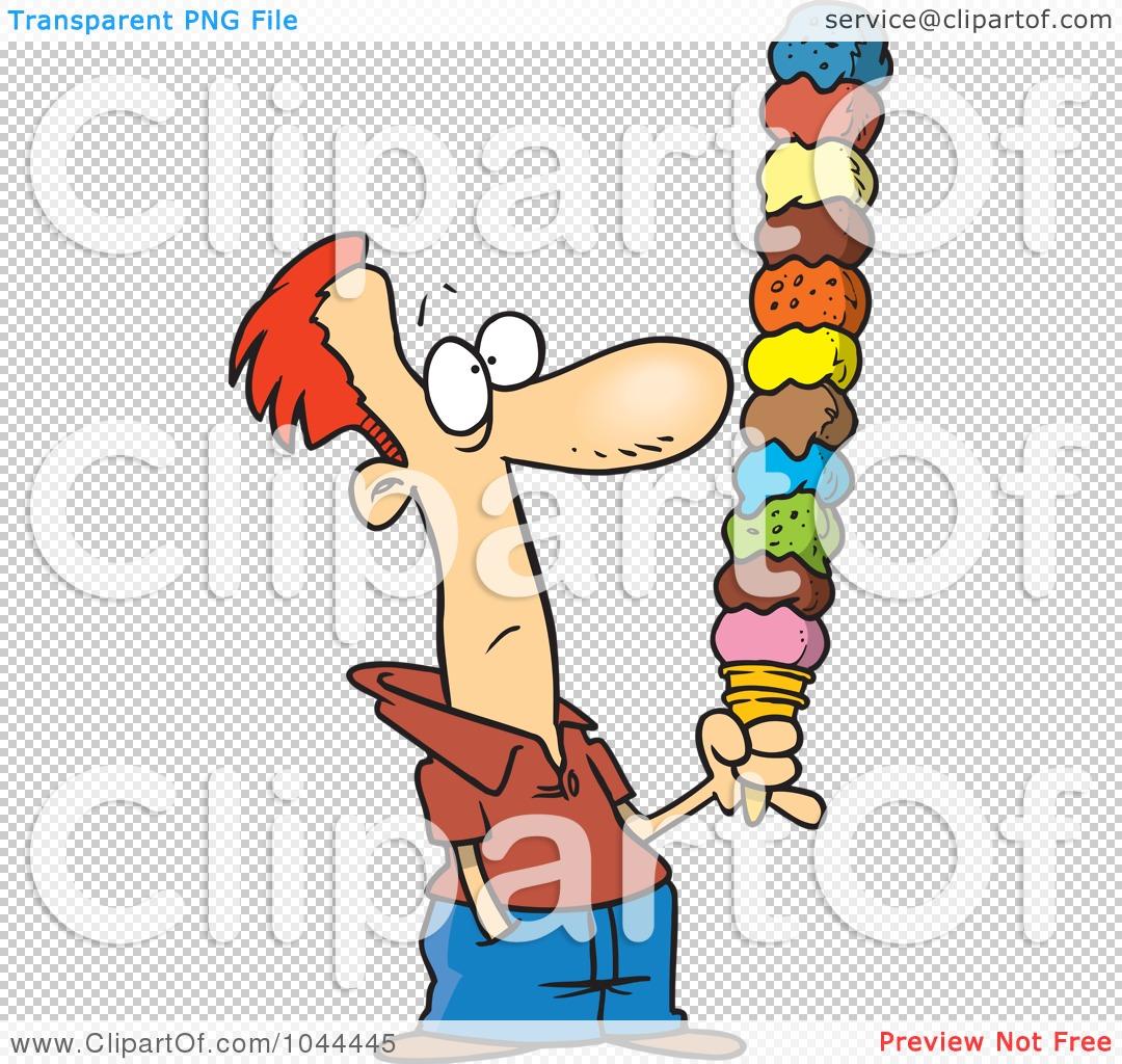 Royalty-Free (RF) Clip Art Illustration of a Cartoon Man Holding A