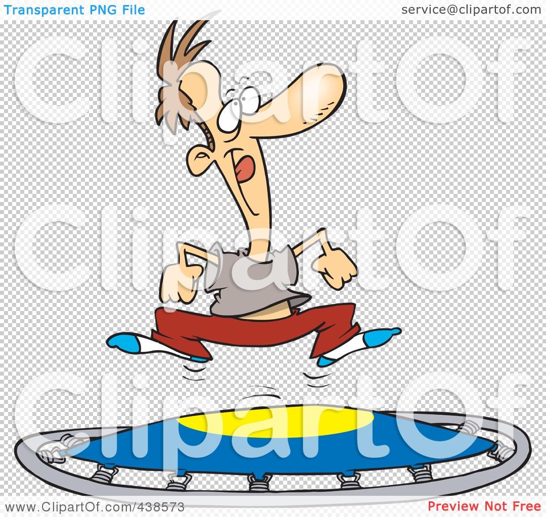 Royalty-Free (RF) Clip Art Illustration of a Cartoon Man Jumping ...