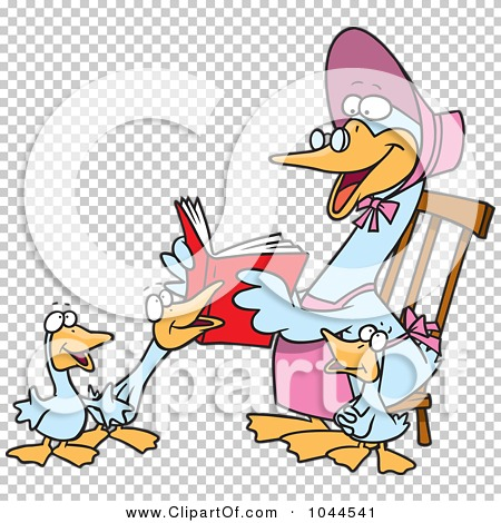 Royalty-Free (RF) Clip Art Illustration of a Cartoon Mother Goose ...