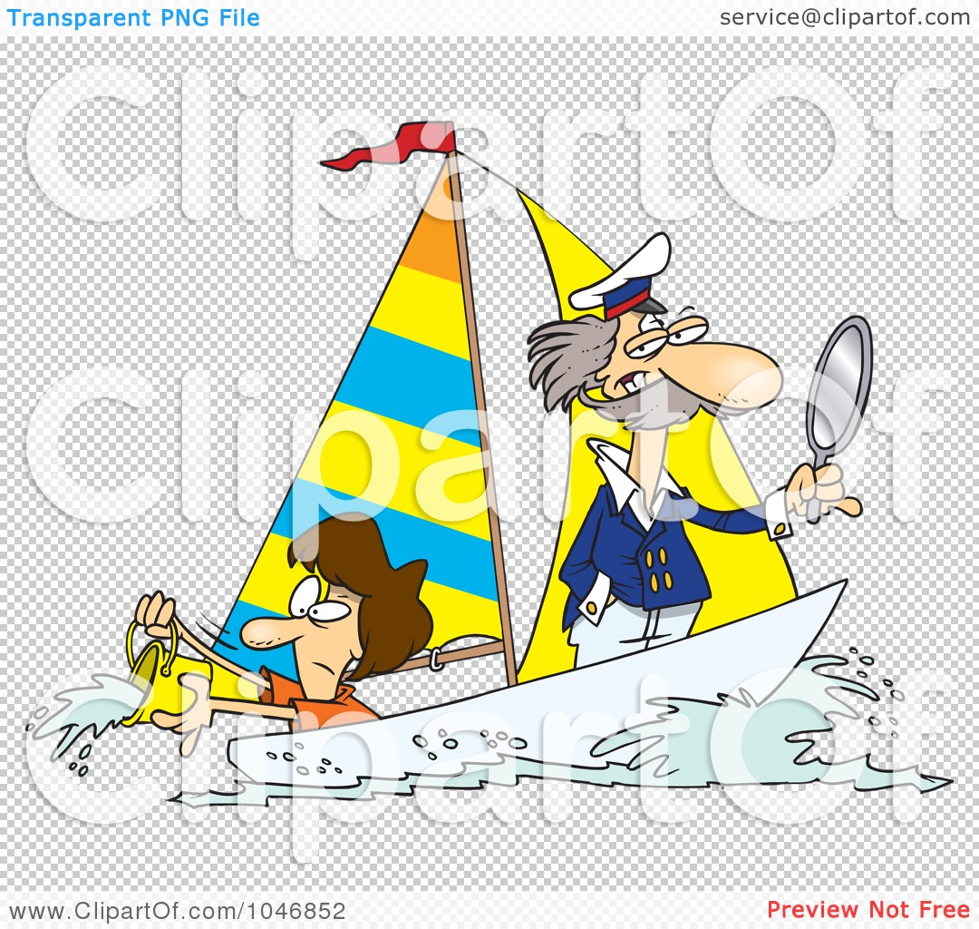 Sailing Boat Cartoon Cartoon Boat Sailing on Water