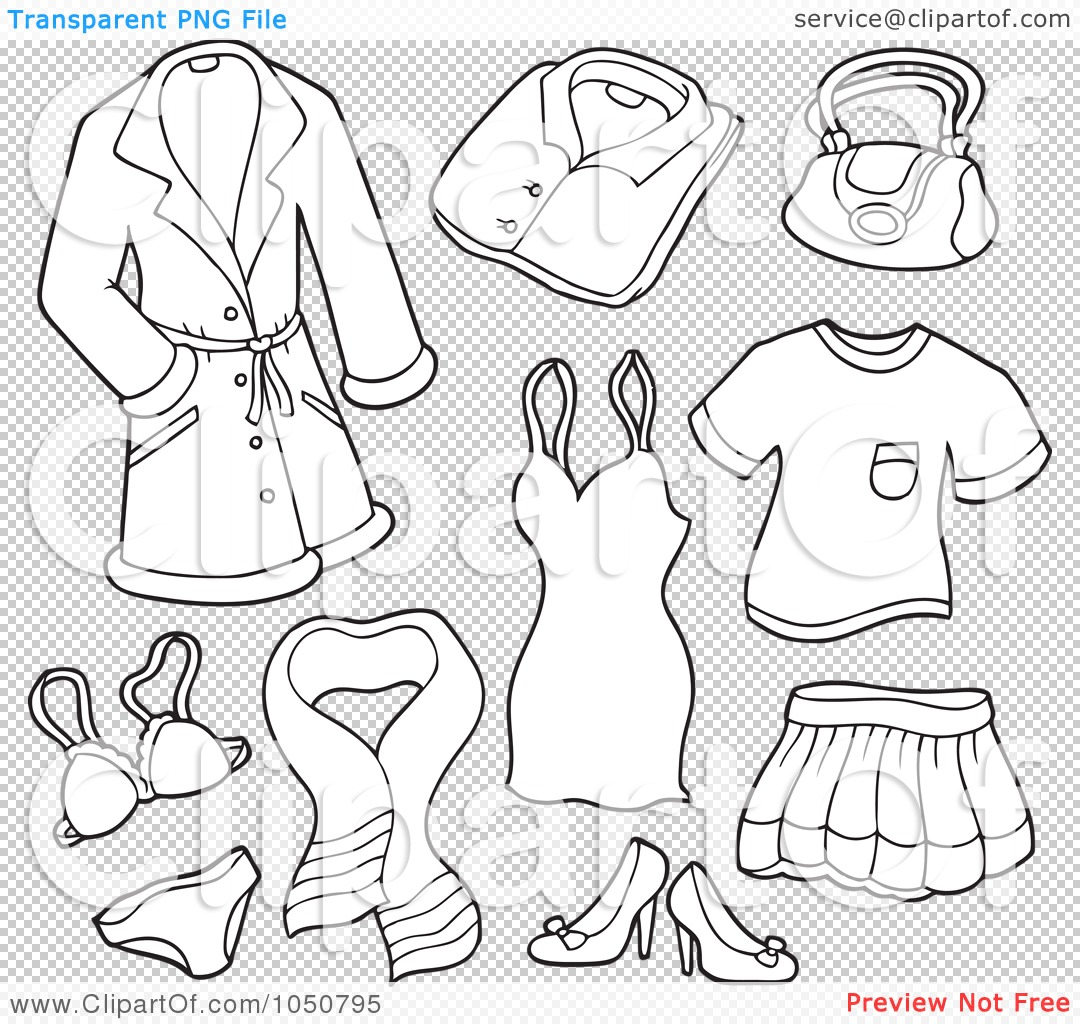 Related Keywords Suggestions for Clothes Coloring Page