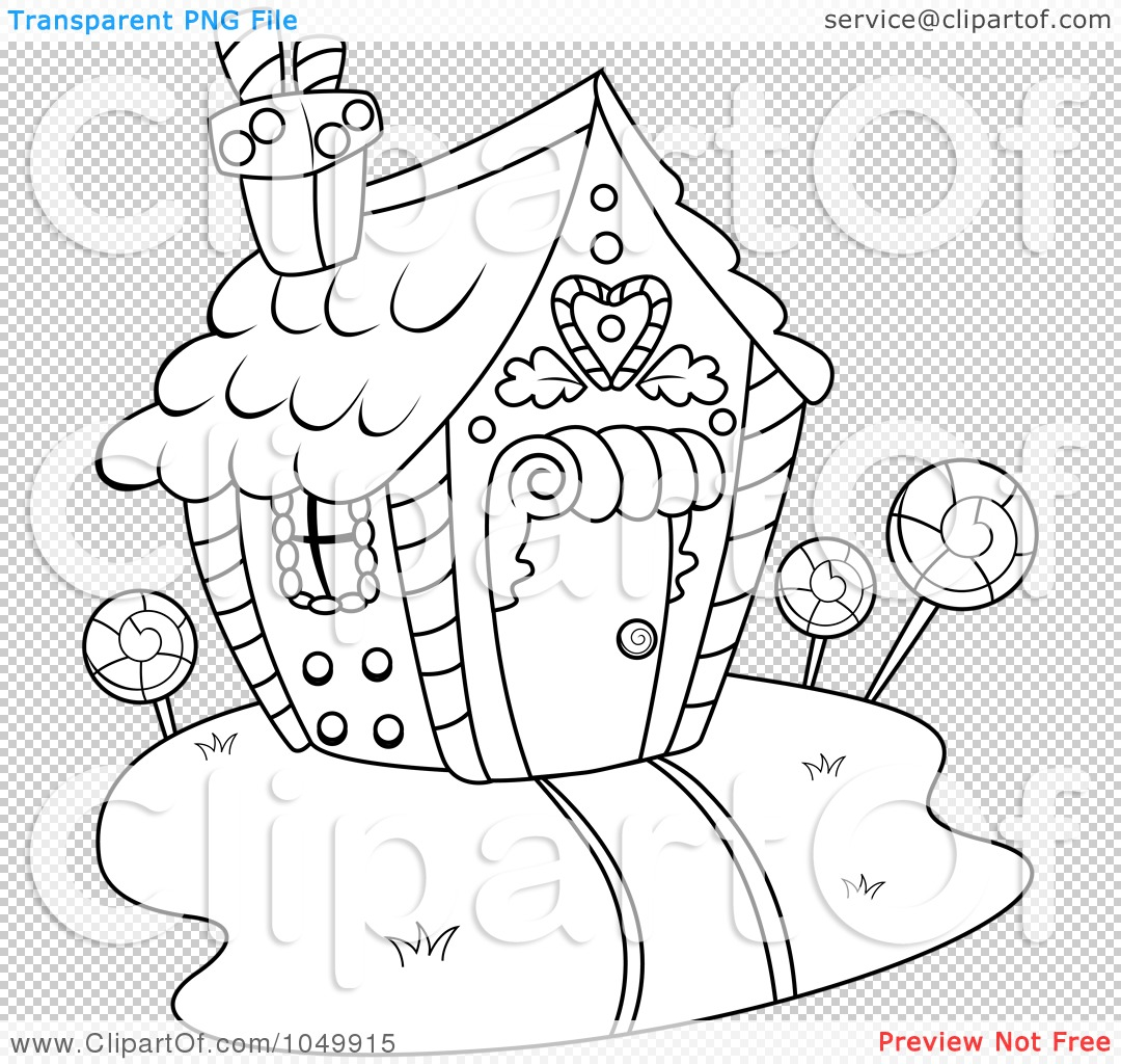 Candy House Drawing Png File Has a