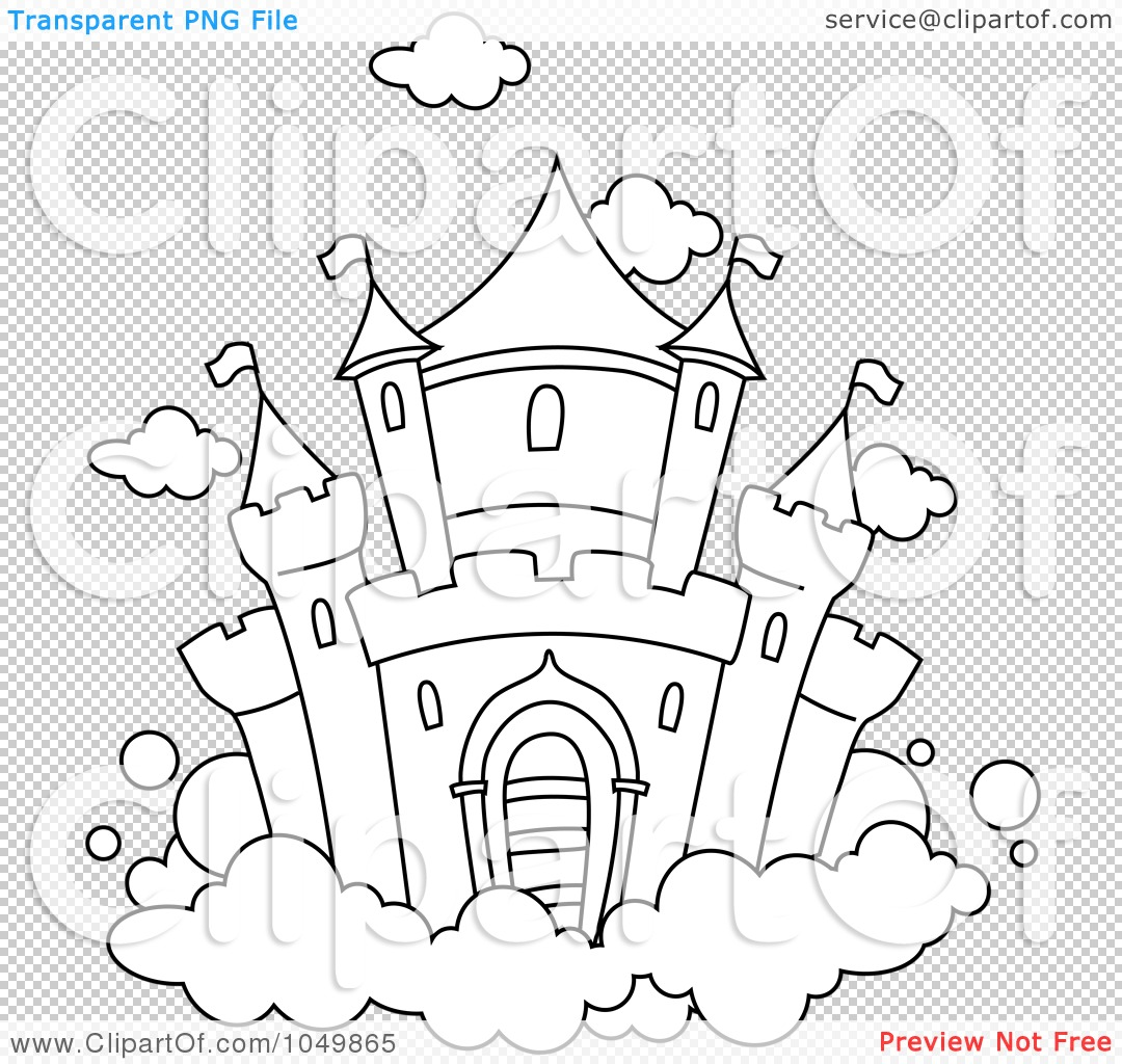 Bouncy Castles Free Colouring