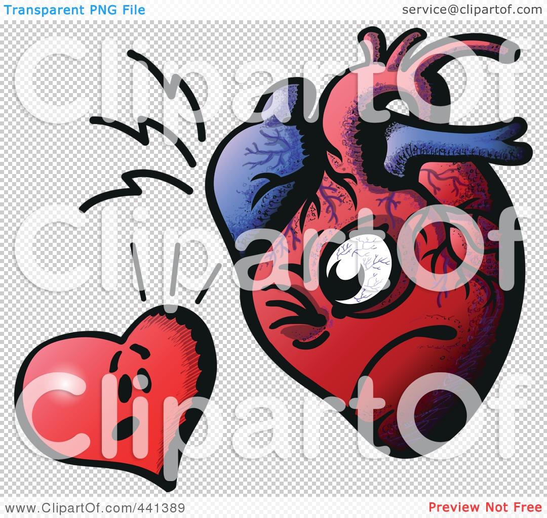 Royalty-Free (RF) Clip Art Illustration of a Heart Facing ...