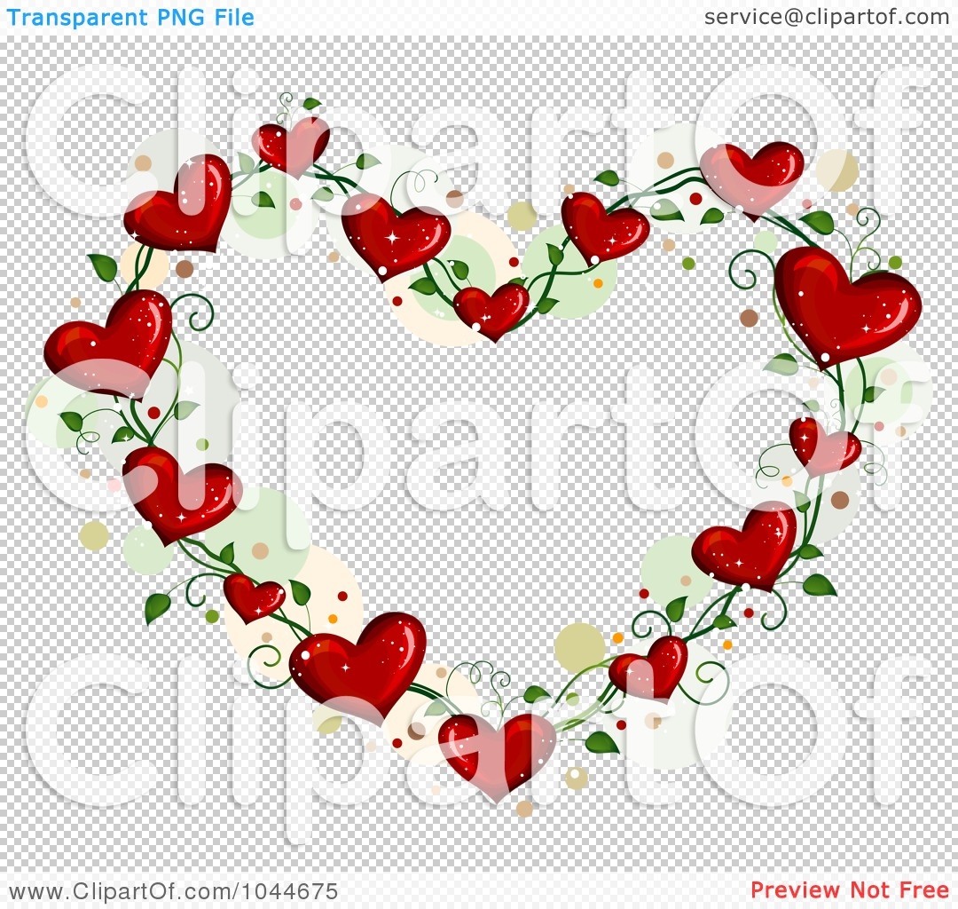 Royalty-Free (RF) Clip Art Illustration of a Heart Vine Frame With ...