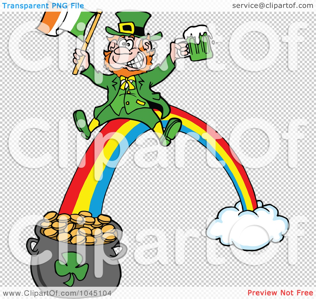 Royalty-Free (RF) Clip Art Illustration of a Leprechaun Holding ...