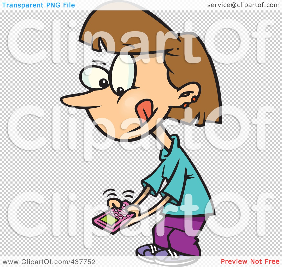 girl texting clipart - photo #38
