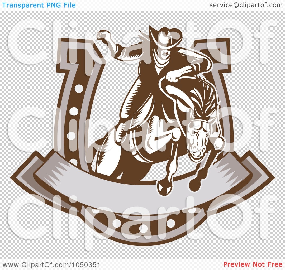 Horseshoe Banner Clip Art
