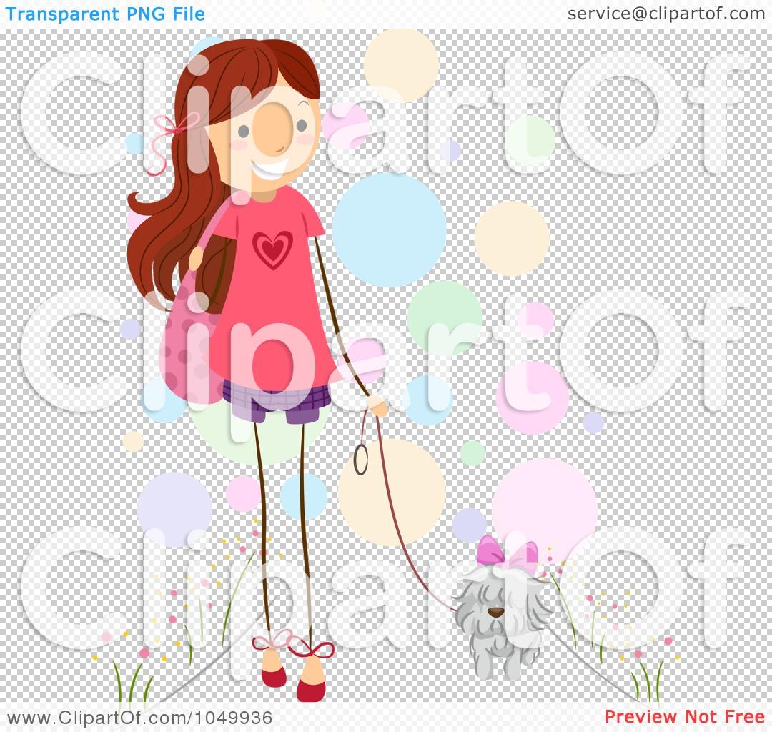 Royalty-Free (RF) Clip Art Illustration Of A Stick Girl